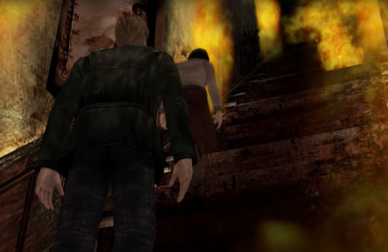 Silent Hill 2 Video Game Review Stairs Scene