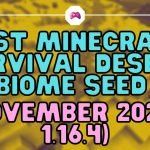 Best Minecraft Survival Desert Biome Seed - November 2020 - 1.16.4