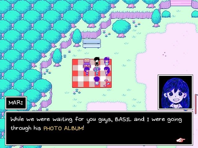 Omori Dialogue Mari Photo Album