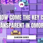 How Come The Key Is Transparent In Omori