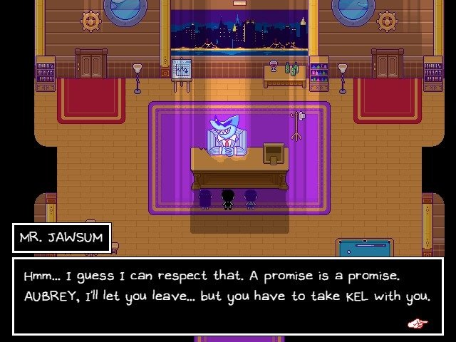 Omori Game Boss Guide Mr Jawsum A Promise Is A Promise Aubrey