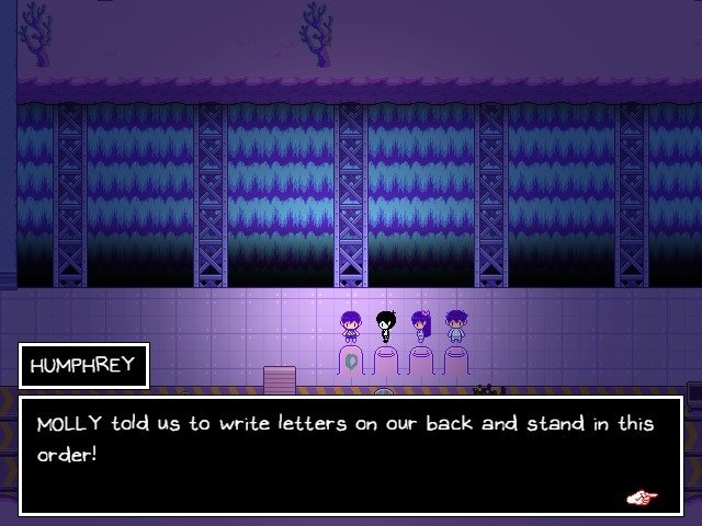 Omori Game Guide Molly Told Us To Write Letters On Our Back