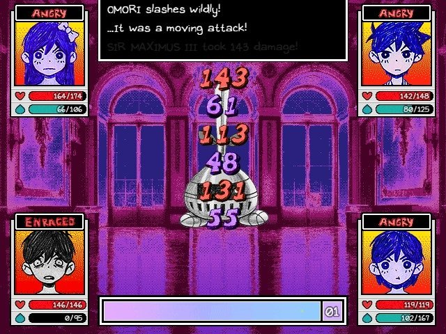 Omori Game Guide Omori Slashes Wildly It Was A Moving Attack 143