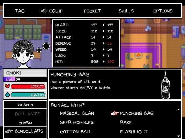Omori Game Guide Punching Bag With Picture Of Kel On It