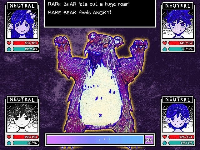 Omori Game Guide Rare Bear Lets Out A Huge Roar And Feels Angry