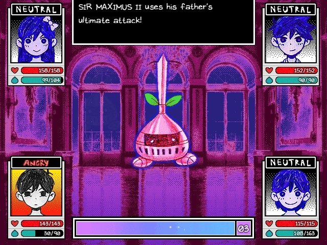 Omori Game Guide Sir Maximus II Uses His Father Ultimate Attack