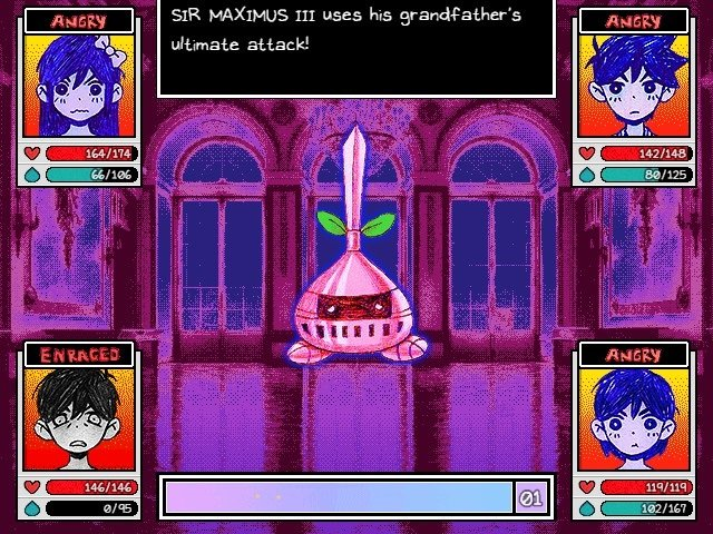 Omori Game Guide sir Maximus III USes His Grandfathers Ultimate Attack