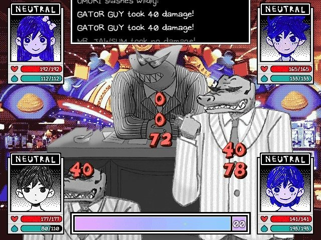 Omori Game Walkthrough Guide Battle Gator Guy Took 40 Damage