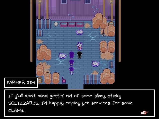 Omori Game Walkthrough Guide Farmer Jim Squizzards I would Happily Employ Yer Services For Some Clams