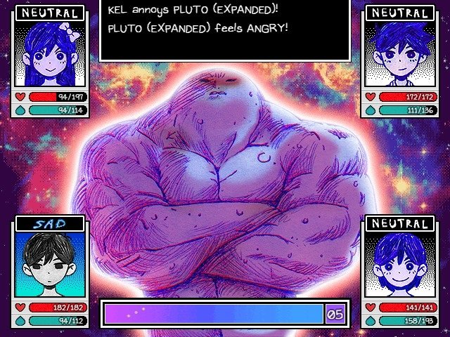 Omori Game Walkthrough Guide Pluto Battle Kel Annoys Pluto