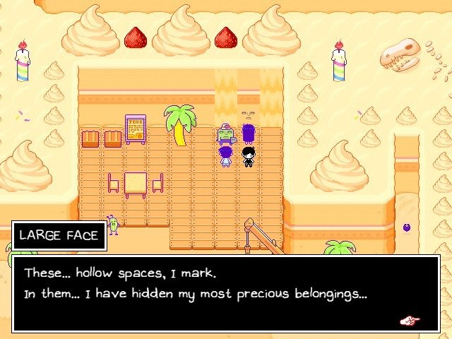 Omori Game Wiki Large Face I Have Hidden My Most Precious Belongings