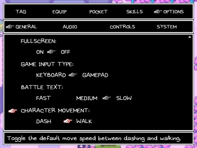 Omori Video Game Character Movement Speed Configuration