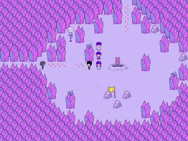Omori Video Game Flower Petals Butt Certificate 003