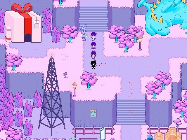 Omori Video Game Flower Petals Scenery 001
