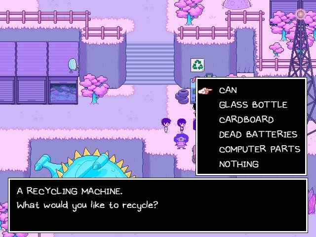 Omori Video Game Recycling MachineWhat Would You Like To Recycle