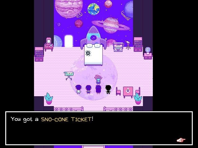 Omori Video Game You Got SnoCones Ticket 015