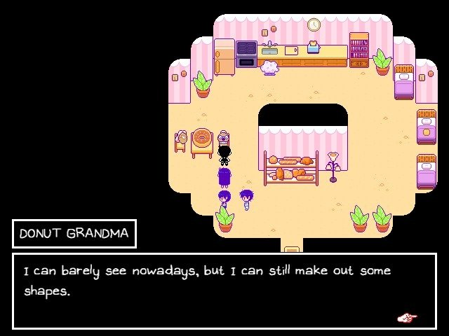 Omori Walkthrough Donut Grandma I can Barely See Nowadays But I can Still make Out Some Shapes