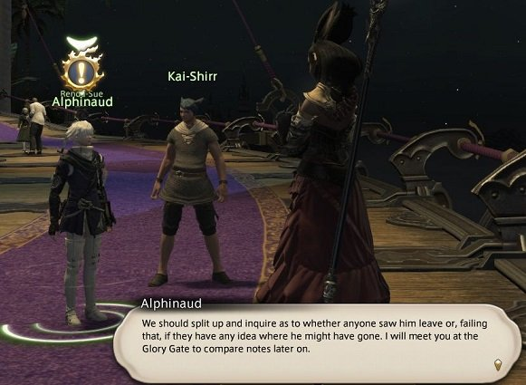 Final Fantasy XIV - Alphinaud - We should split up and inquire as to wether anyone saw him leave