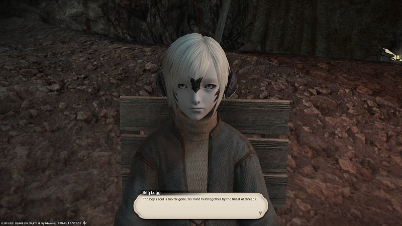 Final Fantasy XIV - Beq Lugg - The boy is too far gone his mind held together by the finest of threads