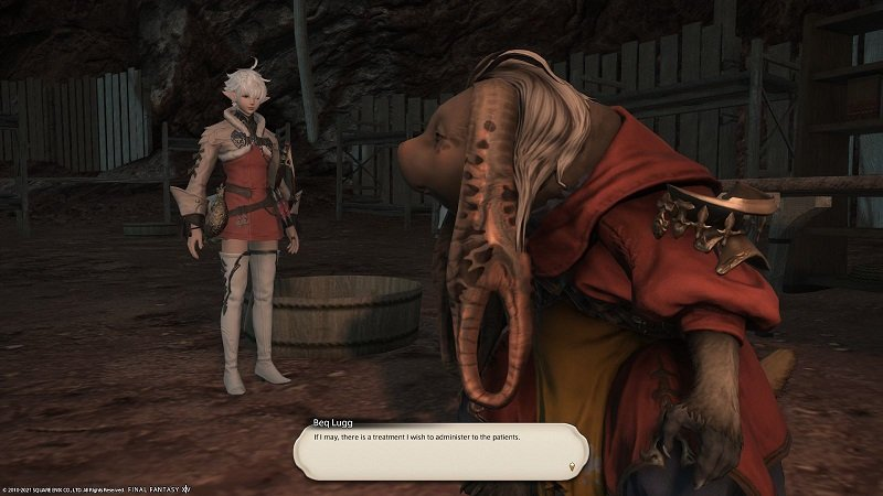 Final Fantasy XIV - Beq lugg - If I may there is a treatment I wish to administer to the patients