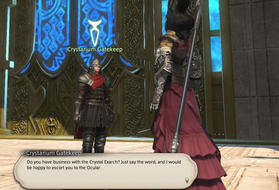 Final Fantasy XIV - Crystarium Gatekeep - Do you have business with the Crystal Exarch
