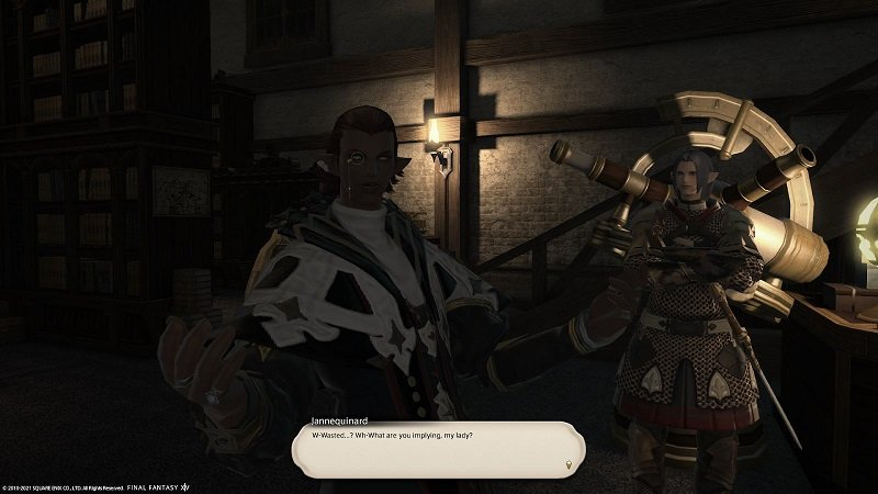 Final Fantasy XIV Fortune Favors The Bole - Jannequinard - What are you implying my lady