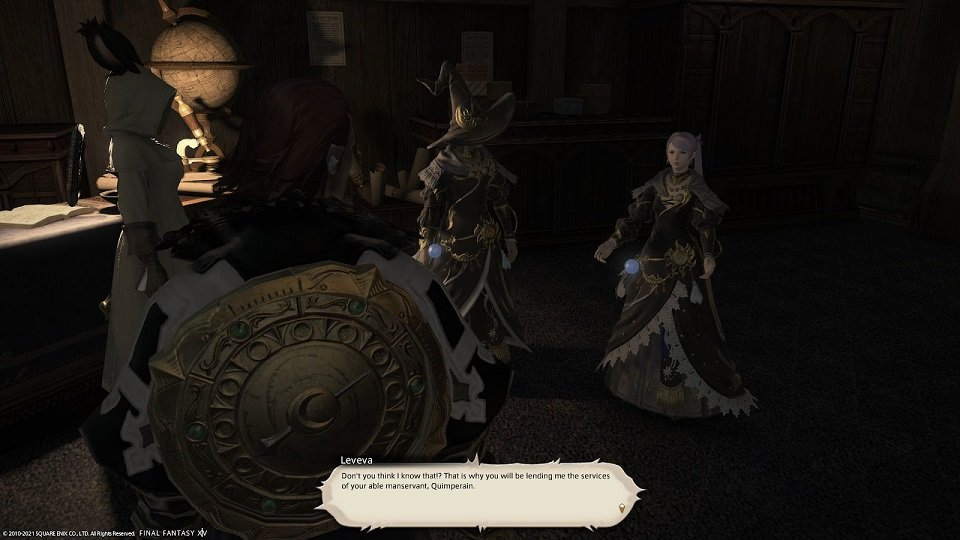 Final Fantasy XIV Fortune Favors The Bole - Leveva - Do not think I know that