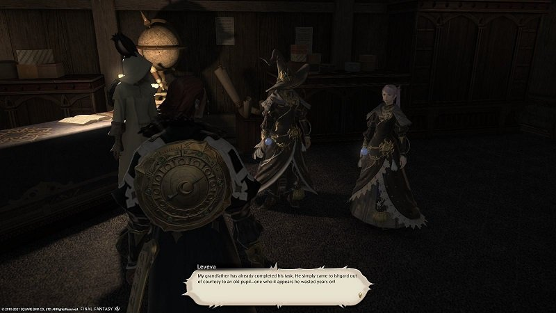 Final Fantasy XIV Fortune Favors The Bole - Leveva - My grandfather has already completed his task