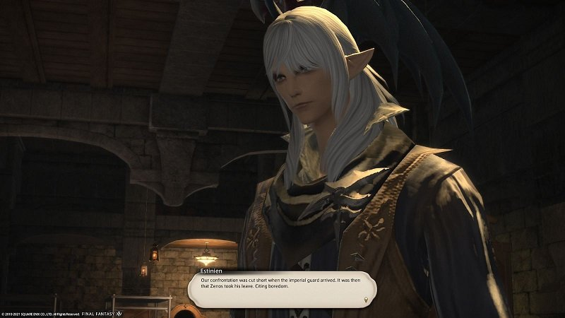 Final Fantasy XIV Game Journal - Estinien - Our confrontation was cut short when the imperial guard arrived