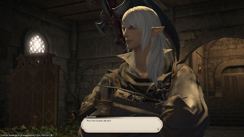 Final Fantasy XIV Game Journal - Estinien - Peer into my past did you