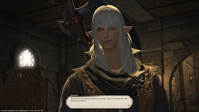 Final Fantasy XIV Game Journal - Estinien - Sorry but I am not inclined to extend my contract