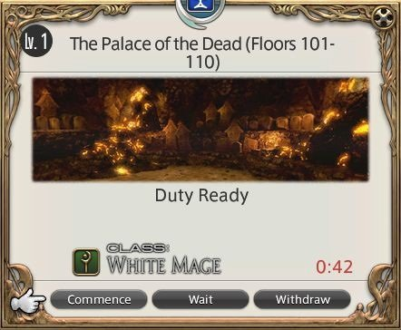 Final Fantasy XIV Game Journal - The Palace Of The Dead Floors 101 -110