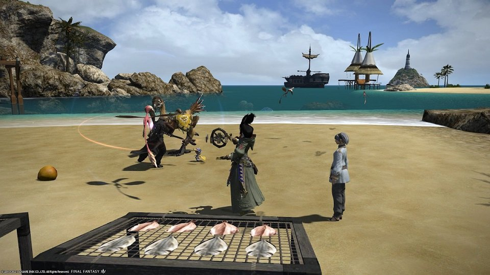 Final Fantasy XIV Hanging In The Balance - On the beach