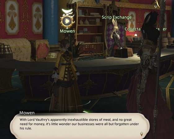 Final Fantasy XIV - Mowen - With Lord Vauthry apparently inexhaustible stores of meol