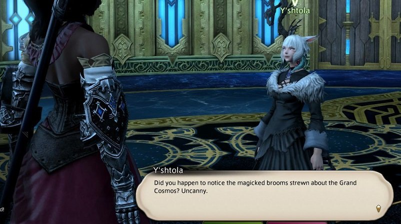 Final Fantasy XIV - Yshtola - Did you happen to notice the magicked brooms strewn about the Grand Cosmos