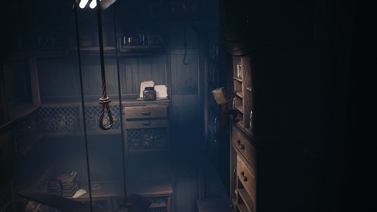 Little Nightmares 2 Game Guide - Mono jumps from the plank onto the shelves on the right