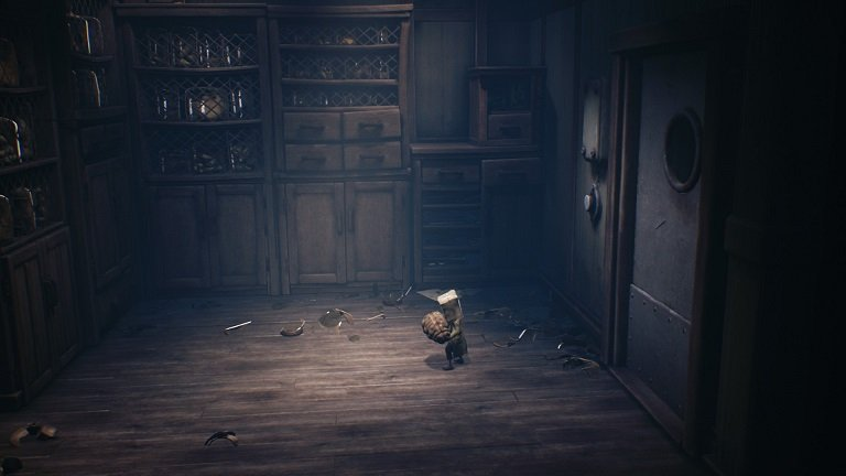 Little Nightmares 2 Game Guide - Mono throws the jar on the floor
