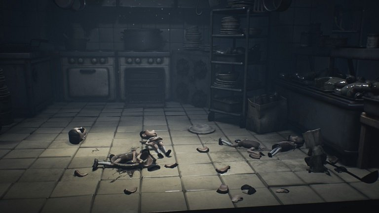 Little Nightmares 2 game guide - Beat these 4 enemies with a ladle which is on the cafeteria floor