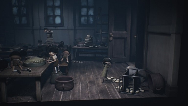 Little Nightmares 2 game guide - Now you are free to walk to the door exiting the cafeteria