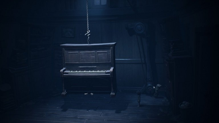 Little Nightmares 2 game guide - Pulling the piano up with a lever