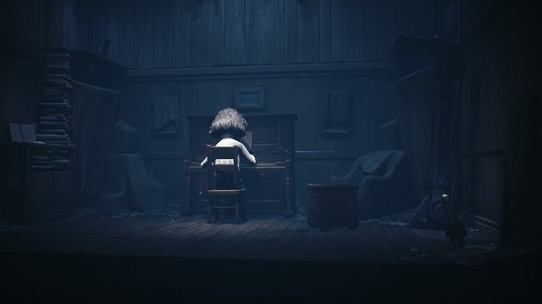 Little Nightmares 2 game guide - Use a lever to bring platform down for Six