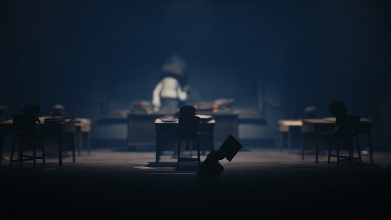 Little Nightmares II Game Guide – Mono hides in the classroom behind the cabinet