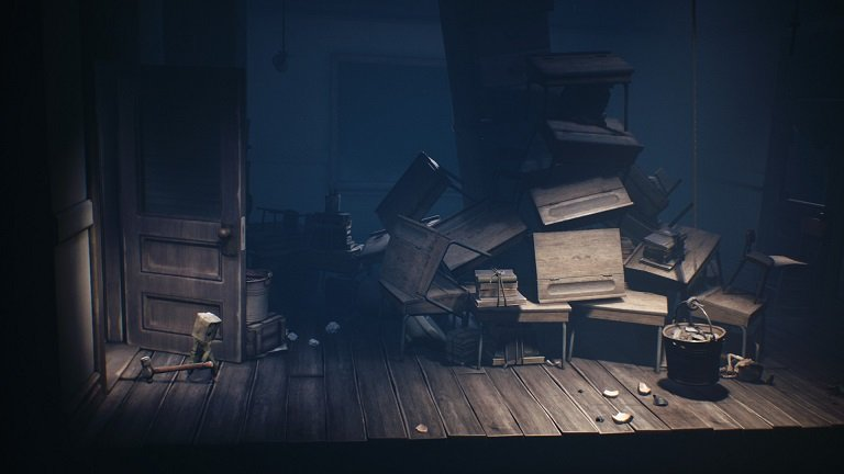 Little Nightmares II Game Guide – Mono hit with slegdehammer on floor to activate trap