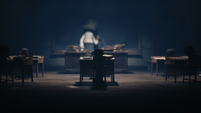 Little Nightmares II Game Guide – Mono waiting till the teacher turns to the chalkboard