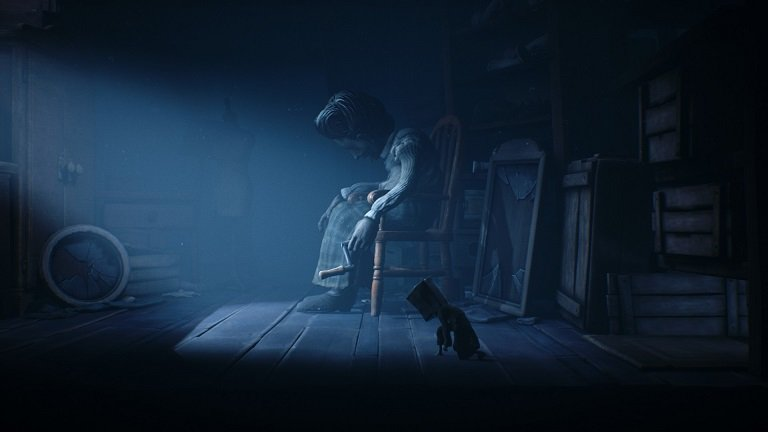 Little Nightmares II Game Guide - A woman in a chair holding a lever you need
