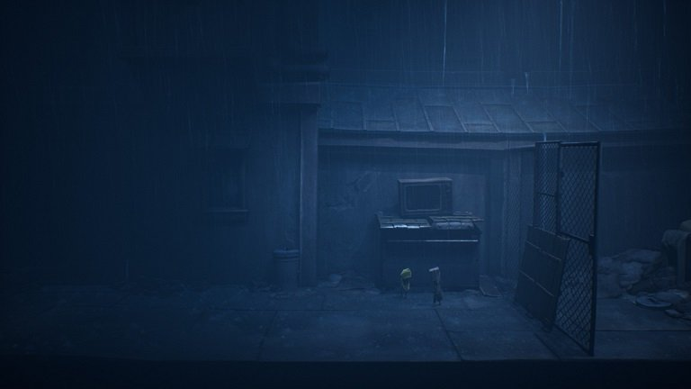 Little Nightmares II Game Guide - Back at the dumpster with yellow raincoat