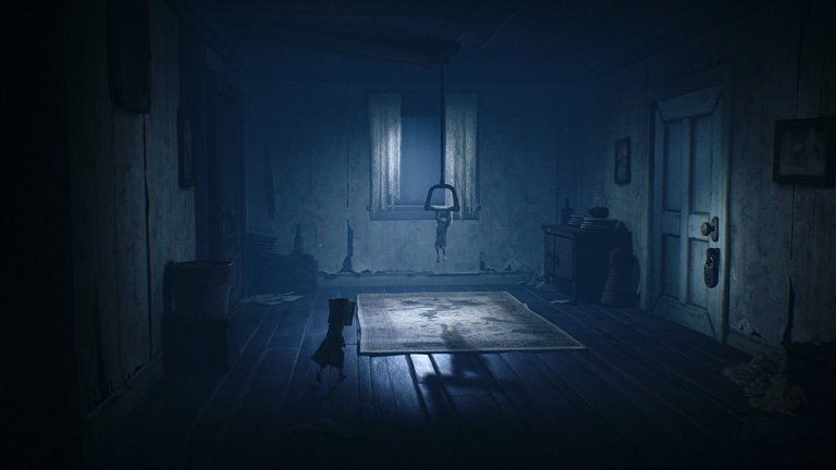 Little Nightmares II Game Guide - Child is hanging on a lever to pull down