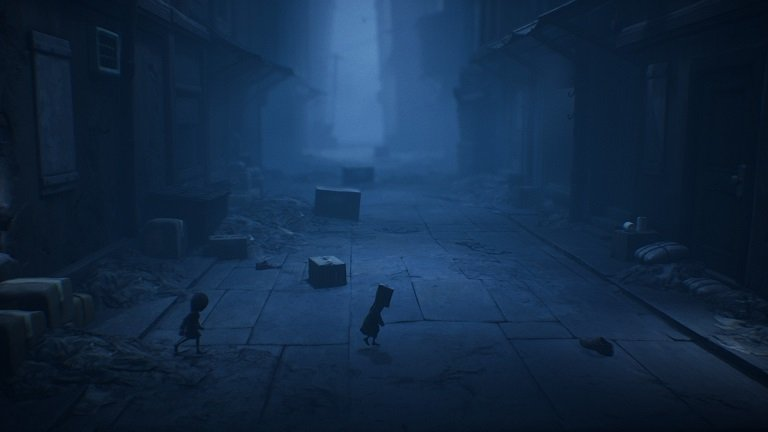 Little Nightmares II Game Guide - Entering a street full of boxes