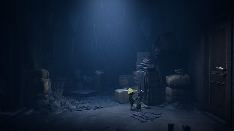 Little Nightmares II Game Guide - Mono and Six putting on the yellow raincoat