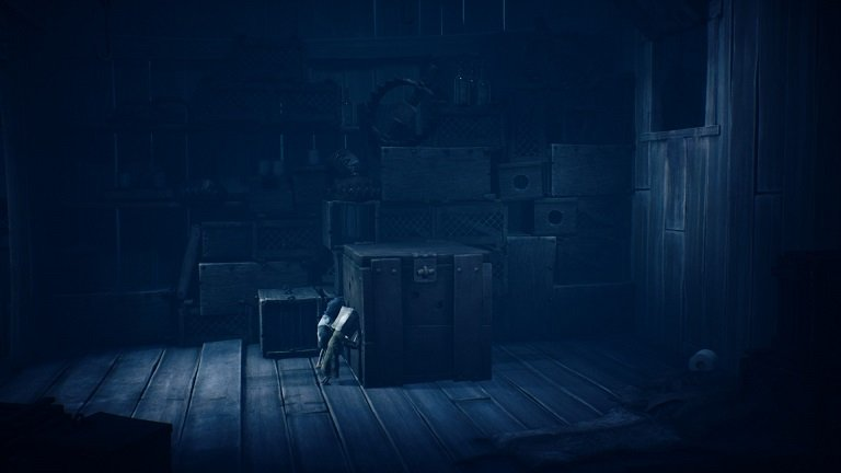 Little Nightmares II Game Guide - Pushing the chest together with child
